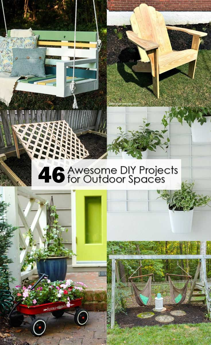 Find full tutorials for these 46 Awesome DIY Projects for Outdoor Spaces   Prett...