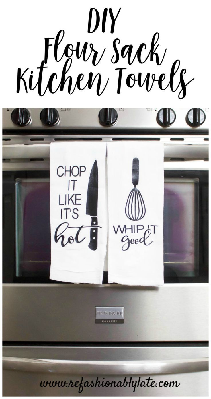 Flour Sack Towels Displayed on a Squeeky Clean Oven - www.refashionably...