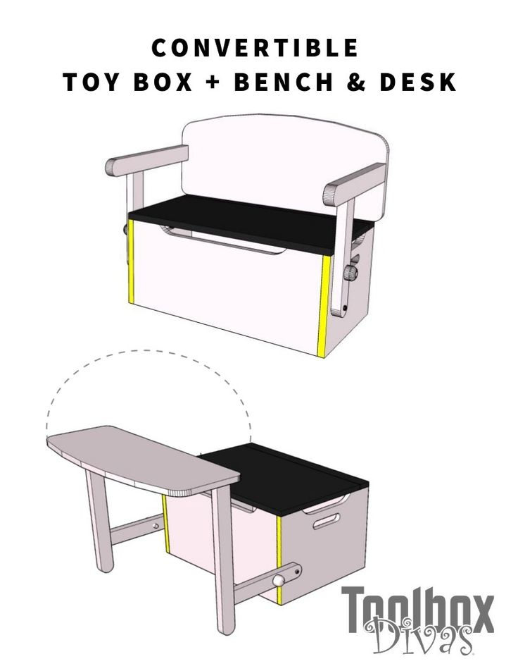 Get ready for Christmas with this DIY Kid's Desk and Bench Set w/Toy Box Sto...