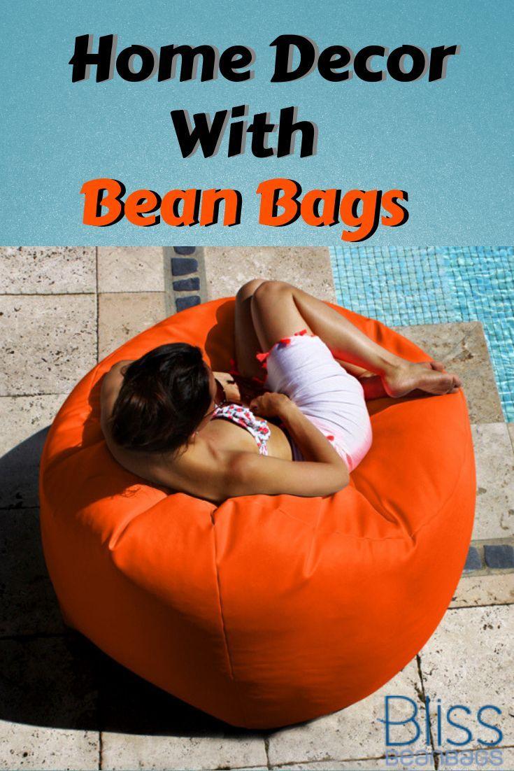 Home Decor With Stylish Bean bags! #beanbags #loungechair #loungechairbeanbags #...