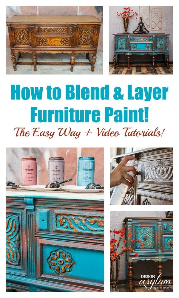 How to Blend &Layer Painton yourpainted furnitureprojects. Learn thefu...