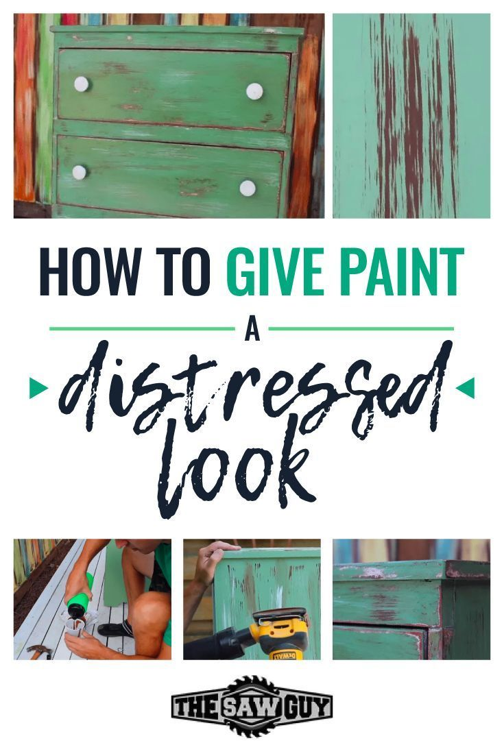 How to Give Pallet Wood a Distressed Paint Effect. #diy #diyproject #distress
