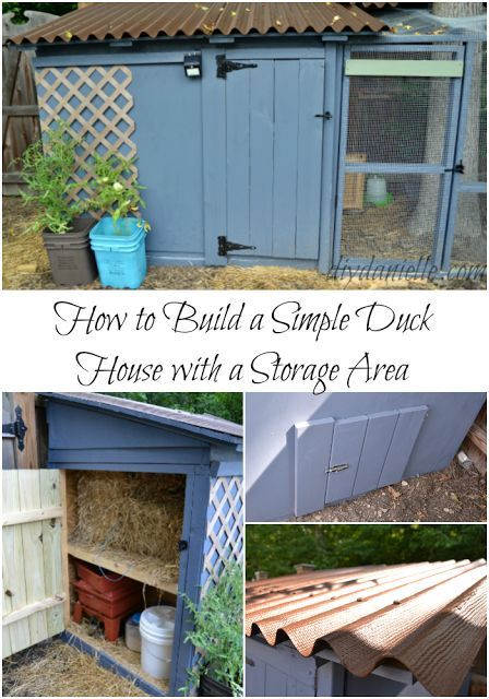 How to build a simple duck house with storage area. The storage is a great way t...