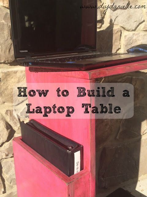 How to build a simple laptop desk to use on the couch. This is great for if you ...