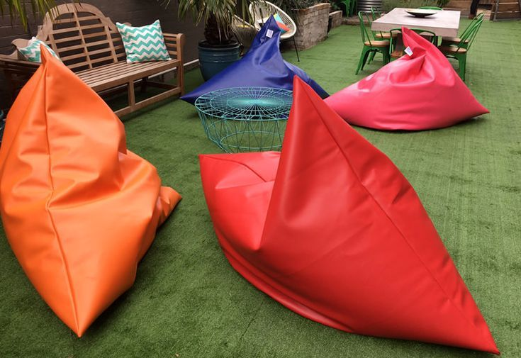 King Bean Bag, 16 colors. Designed for outdoor use.