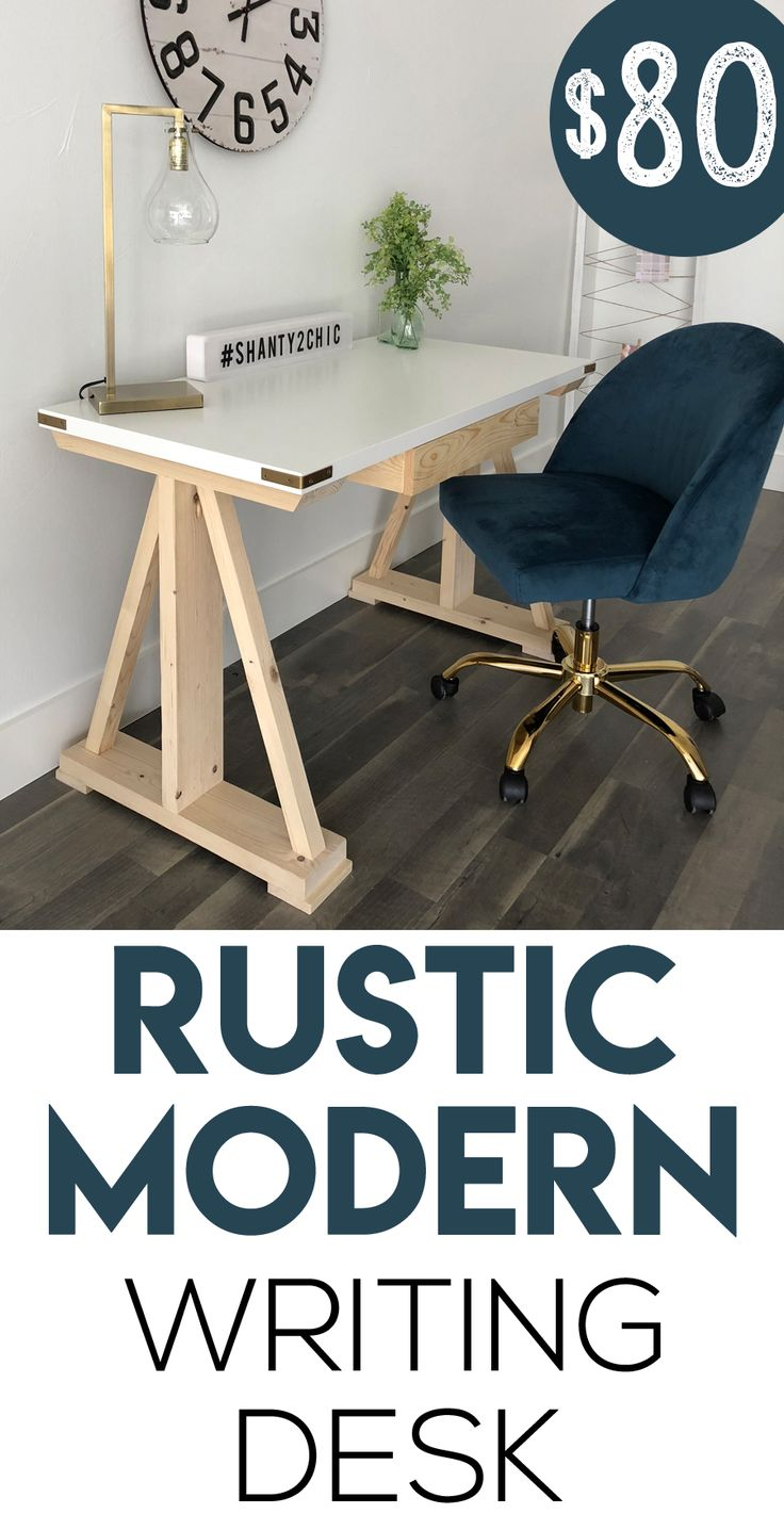 LOVE this desk!  This is a simple build that only requires a few tools and the t...