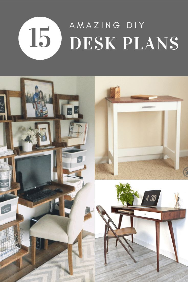 Looking for the perfect desk for your home office? Build your own! I've found 15...