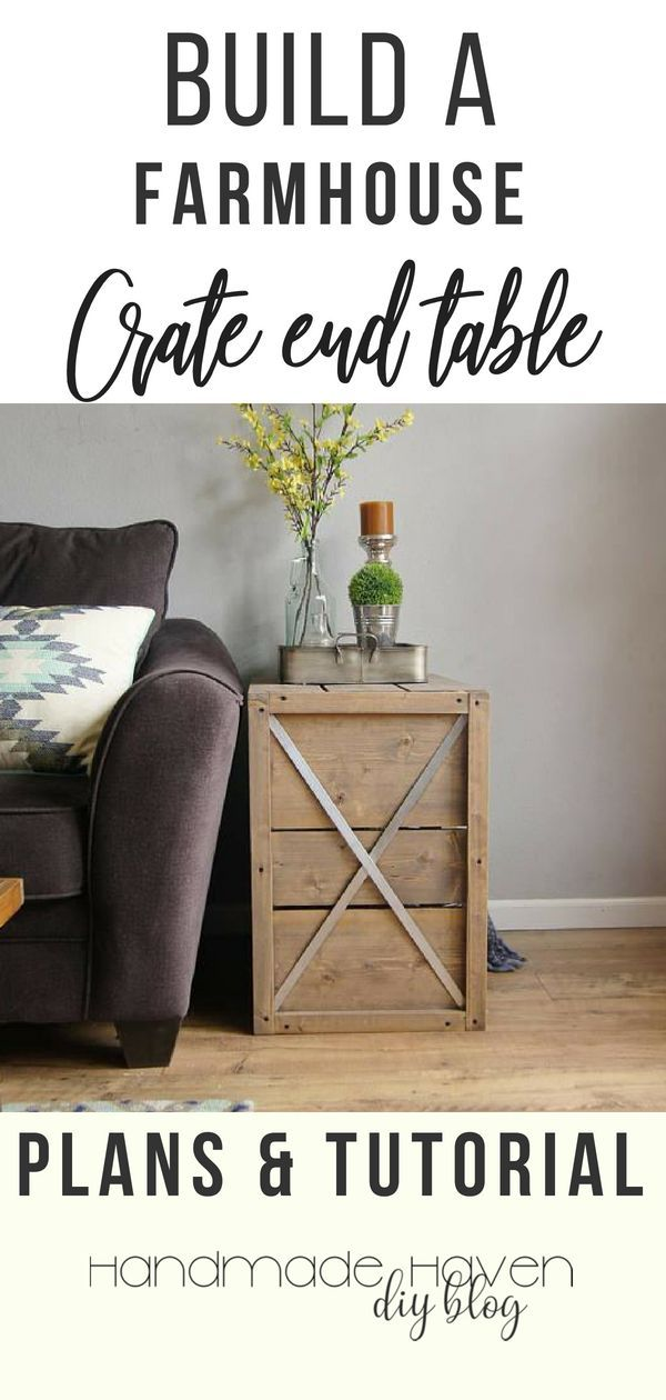 Love the industrial farmhouse look? Make these crate end tables yourself. Decora...