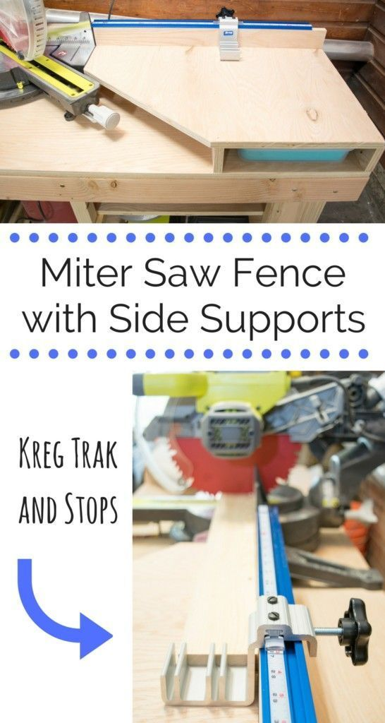 Make the most out of your miter saw with this extended fence and side supports. ...