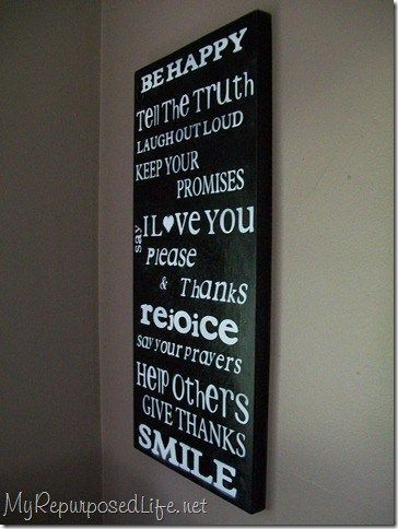 My Repurposed Life-Family Rules Sign #diy #signs #family #rules