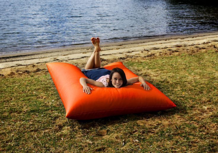 Orange king bean bag. Bright bean bags for relaxed living indoors our outside. P...