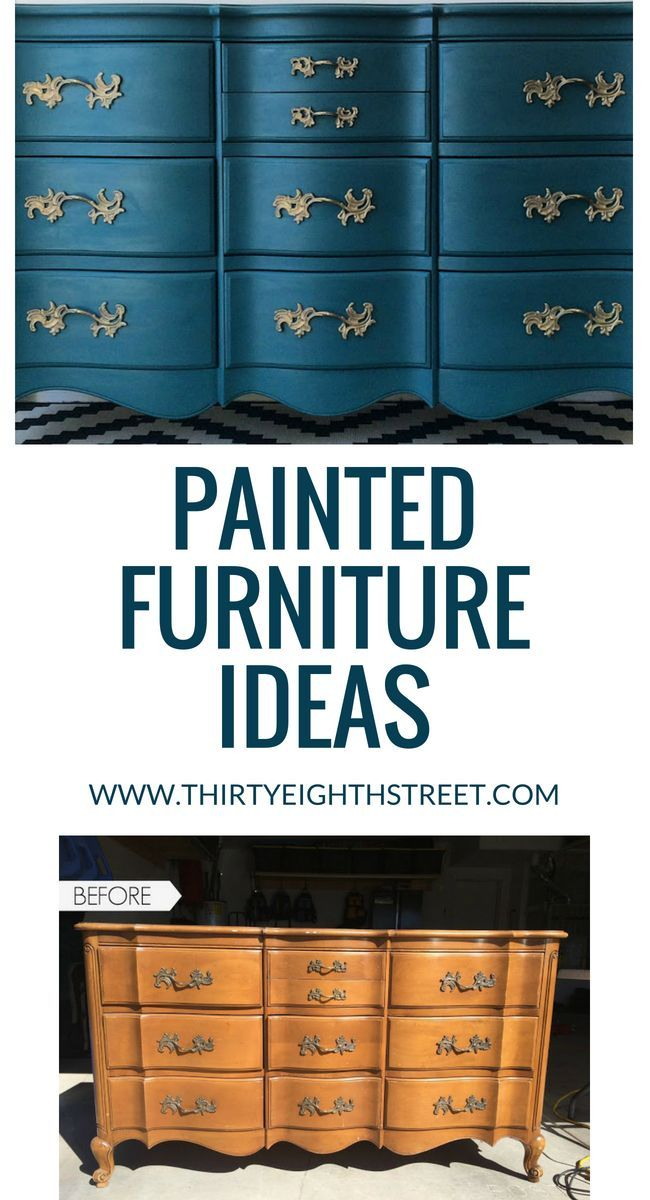 Painted Furniture Ideas. GORGEOUS before and after furniture makeovers PLUS furn...