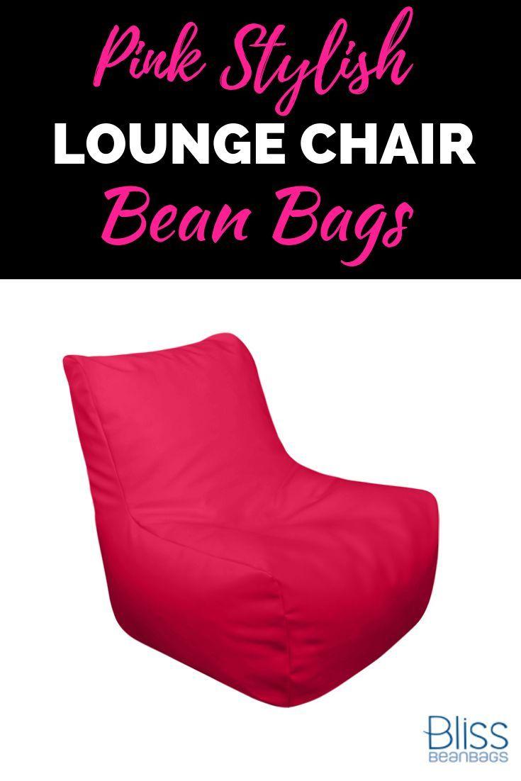 Pink Stylish Lounge Chair Bean Bag collections! #beanbags #loungechair #loungech...