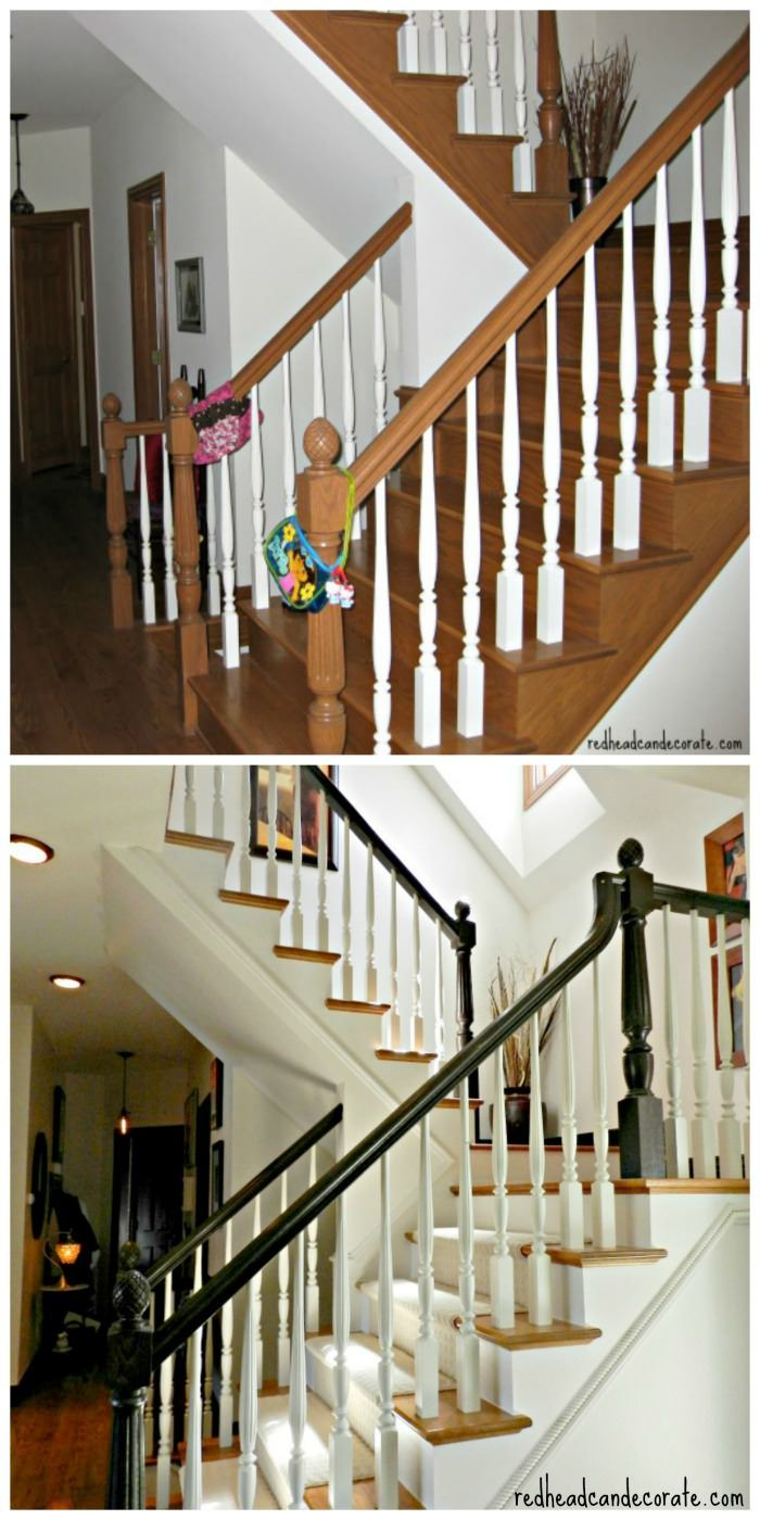 Staircase Makeover from Redheadcandecorat...