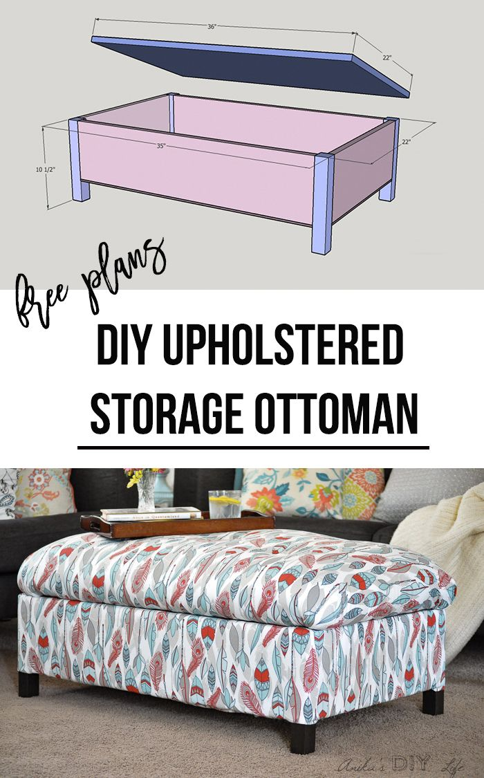 The best tutorial on how to build a storage ottoman! Click here for the plans an...