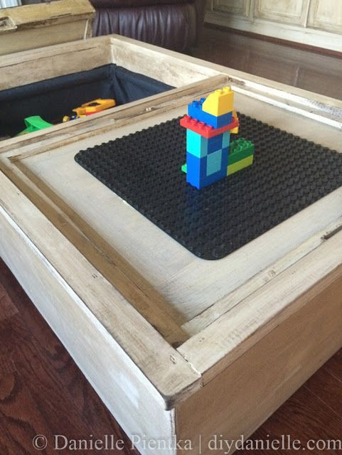 Coffee Table Toy Chest.Diy Furniture Updated Storage Ottoman Into A Toy Chest Coffee