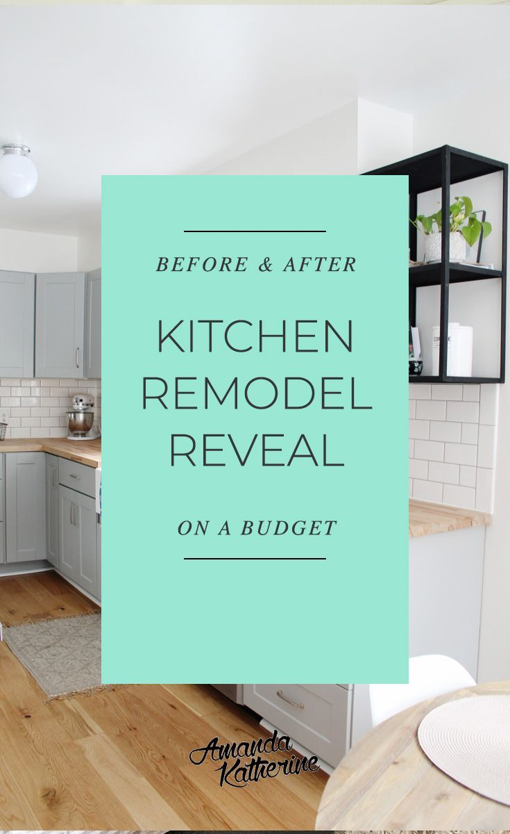 We're revealing our small kitchen renovation reveal that we did ourselves on...