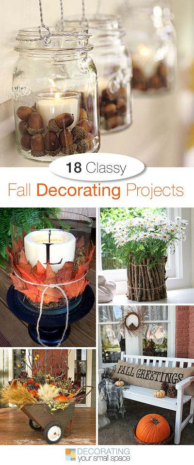 18 Classy Fall Decorating Projects • Tons of great Ideas and Tutorials! • Ma...