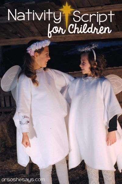 Keep Christmas Christ-centered by having the kids act out this Nativity for fami...