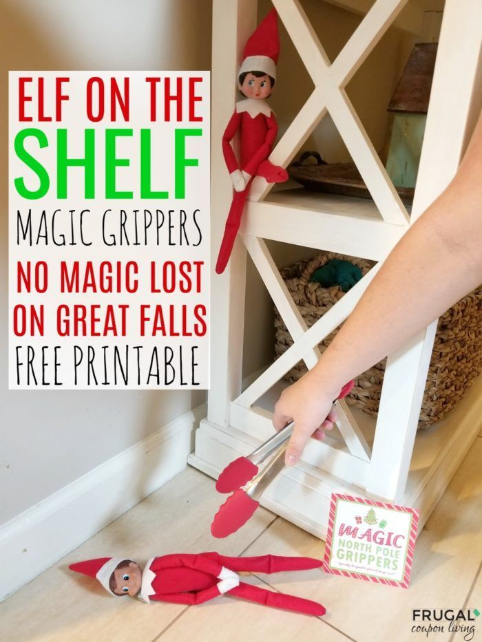 Free Elf on the Shelf magic grippers printable. Specially designed to prevent ma...