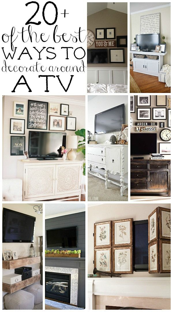 See 20 ways to decorate around those big black rectangles! A must pin for every ...
