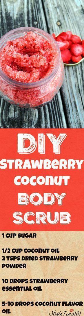 DIY Strawberry Coconut Body Scrub