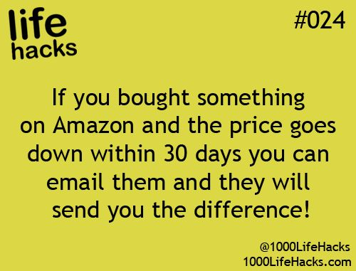 Amazon's Secret Price Guarantee... not sure if this is fact but a reminder t...
