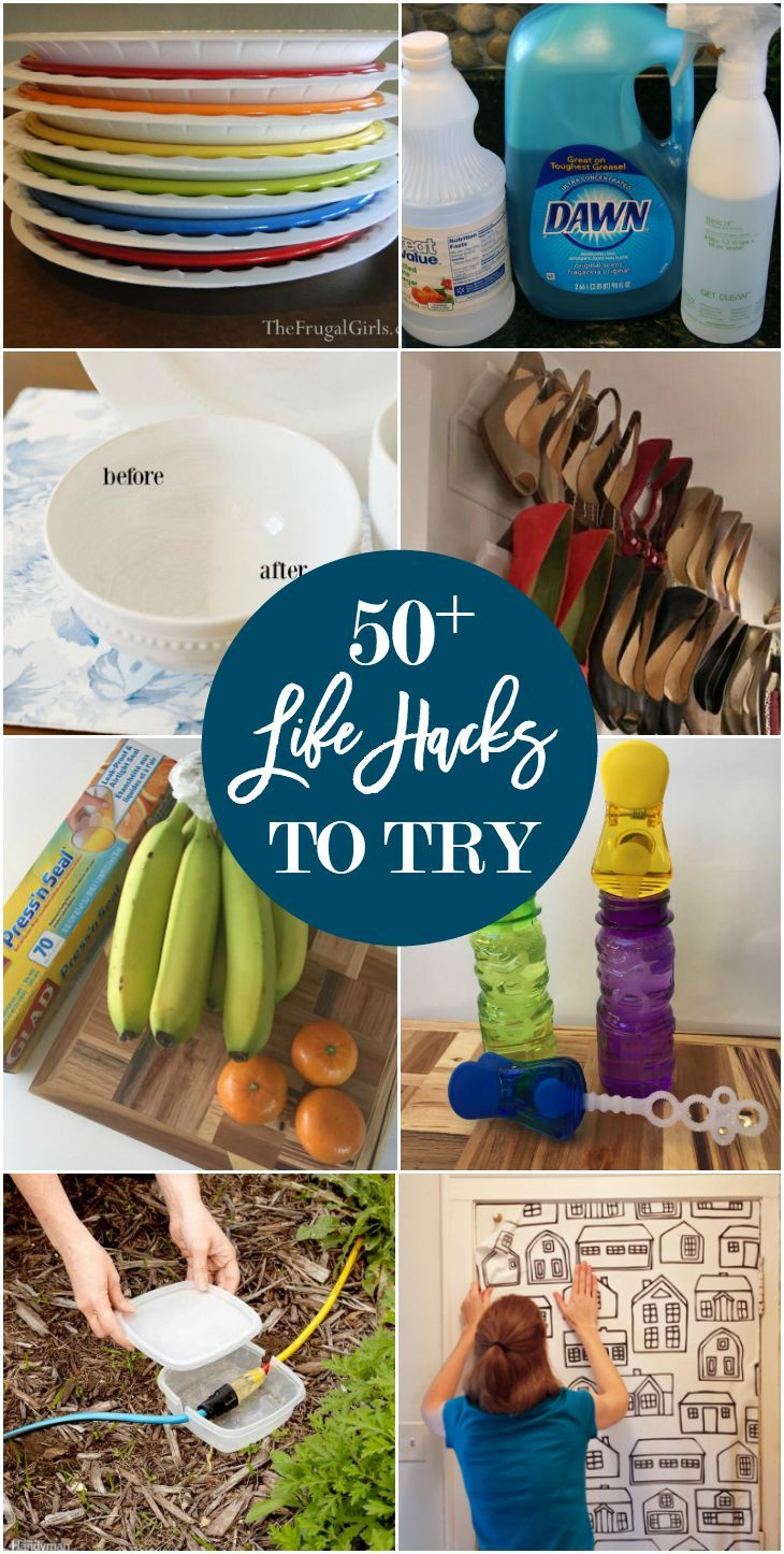 Here are 50 life hacks in the areas of home decor, food, cleaning/organizing, be...