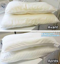 Astuce pour laver, nettoyer et blanchir des oreillers: www.comment-econo...