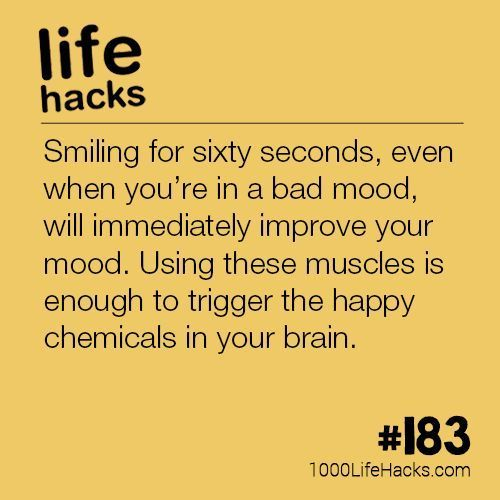 DIY Life Hacks & Crafts : The post #183 – Boost Your Mood By Smiling appeared ...