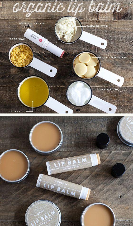 14 Life Hacks Every Girl Should Know   Make Your Own Organic Lip Balm   DIY Home...
