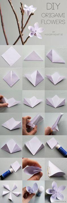 DIY origami flower Step-by-Step Tutorial