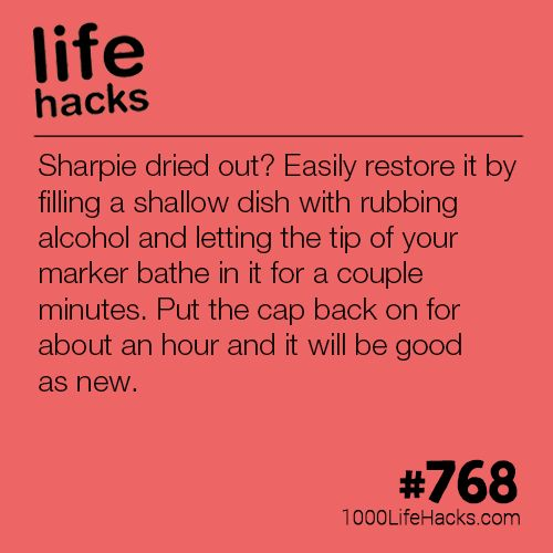 Give Life To Your Dried Out Sharpies, a post from the blog 1000 Life Hacks on Bl...
