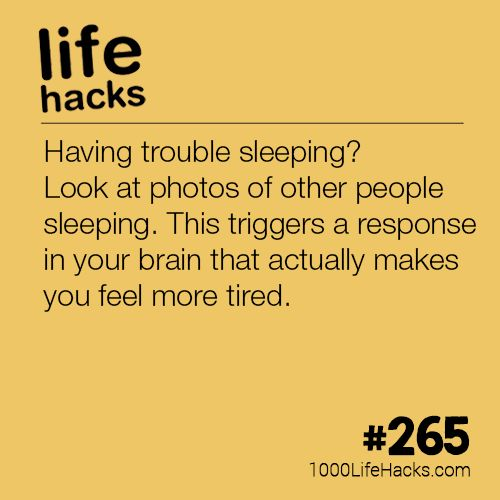 Having trouble sleeping? Look at photos of other people sleeping. This triggers ...