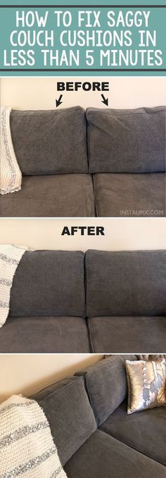 Home Tip -- How to easily fix sagging couch cushions in less than 5 minutes! Thi...