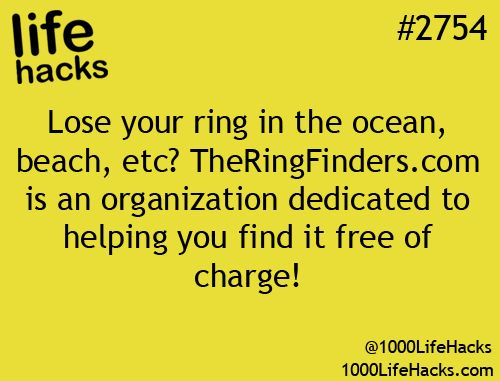 How to find your lost ring !