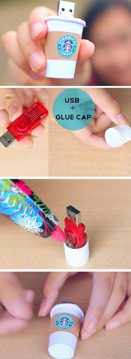 Starbucks USB   DIY Tumblr Inspired School Supplies for Teens you need to try!