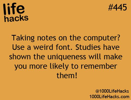 Taking Notes on your computer