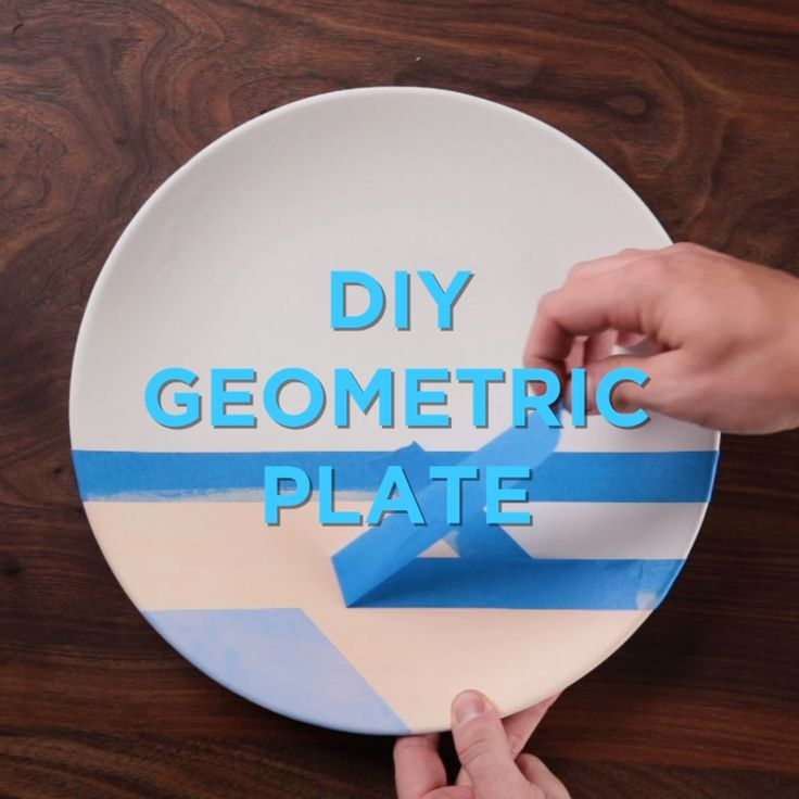 Your dinner plate just got a whole lot prettier thanks to this paint and tape, g...