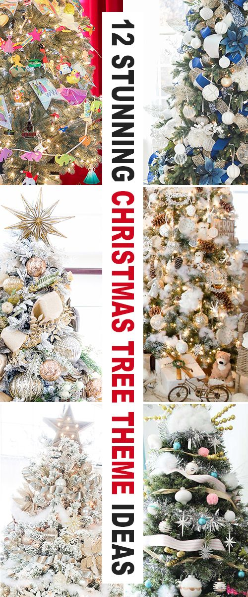 12 Stunning Christmas Tree Theme Ideas! • Check out these Christmas Tree ideas...