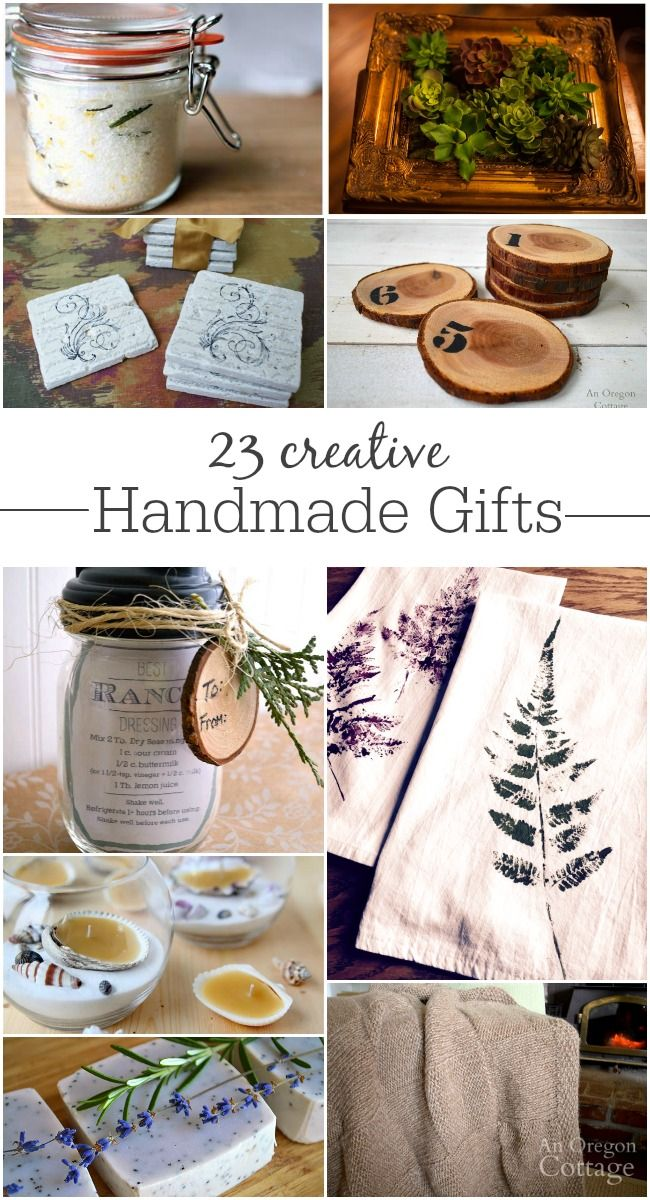 23 creative and unique handmade gifts that includes all skill levels.