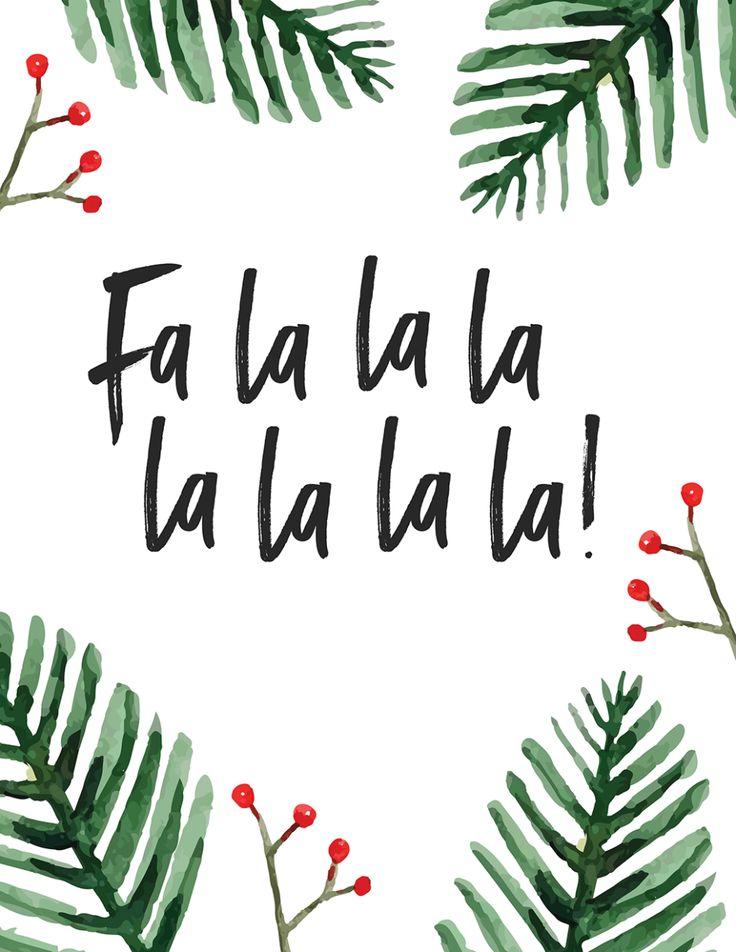 25+ Free Christmas Printables for your Home - Fa La La La La La La La! | Oh So L...