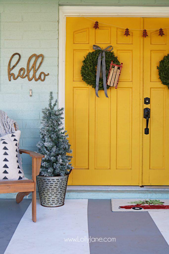 5 diy Christmas wreaths to make this season #lollyjane #christmas #porchdecor
