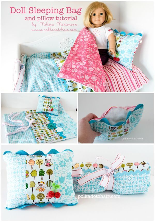 American Girl Doll Sleeping Bag Sewing Tutorial - really cute idea for a Christm...