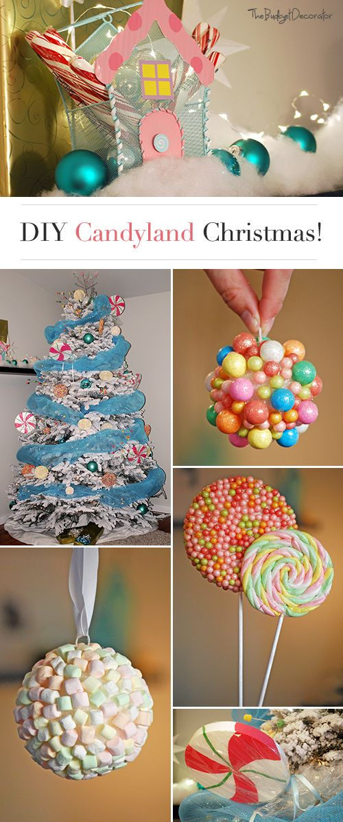 Diy Crafts Candy Land Christmas Theme Tree Check Out