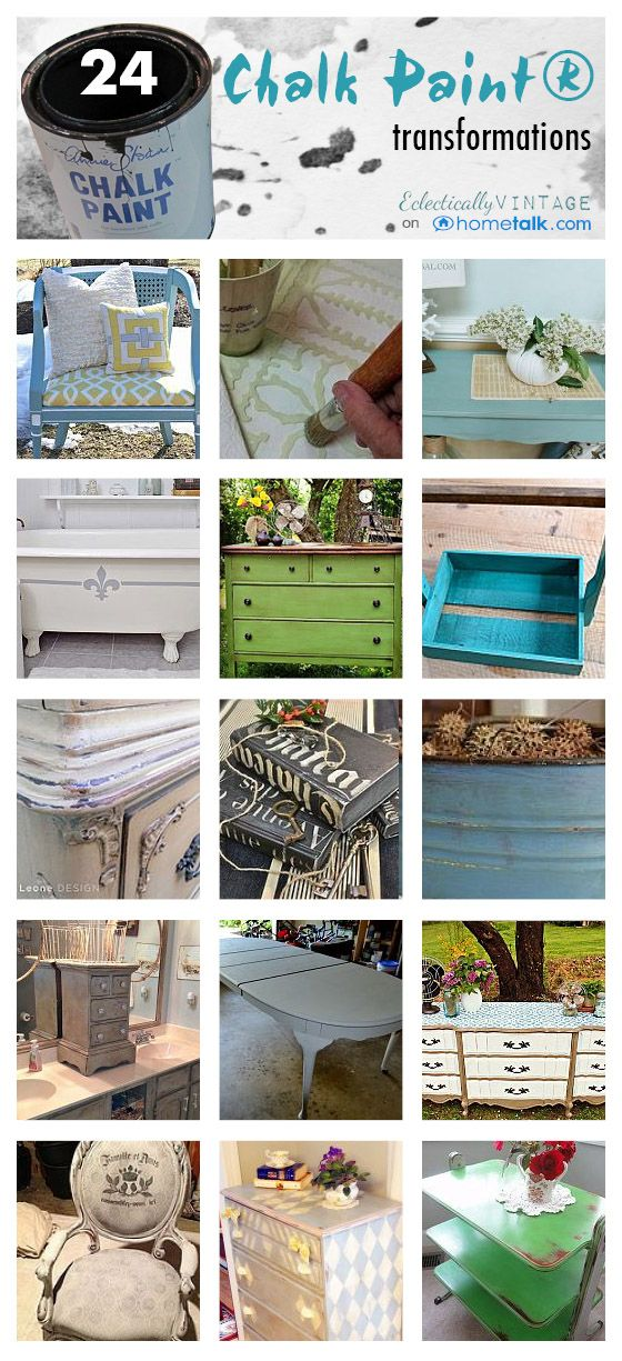 Chalk Paint 101 - and Tips from the Pros! eclecticallyvinta...