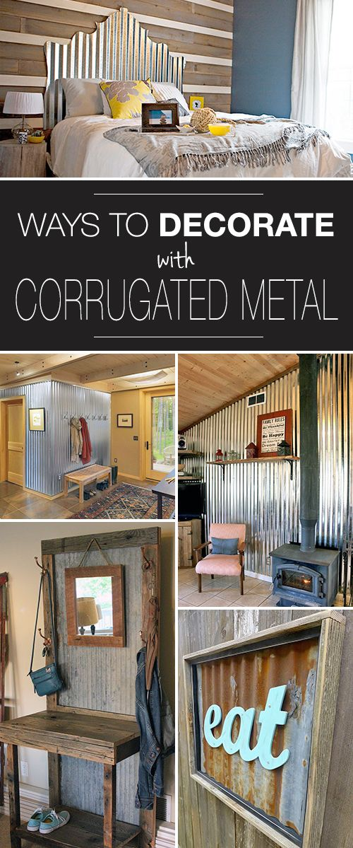 Clever Ways to Decorate with Corrugated Metal! • Check out all these ways to u...