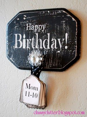 Count down to the next birthday!