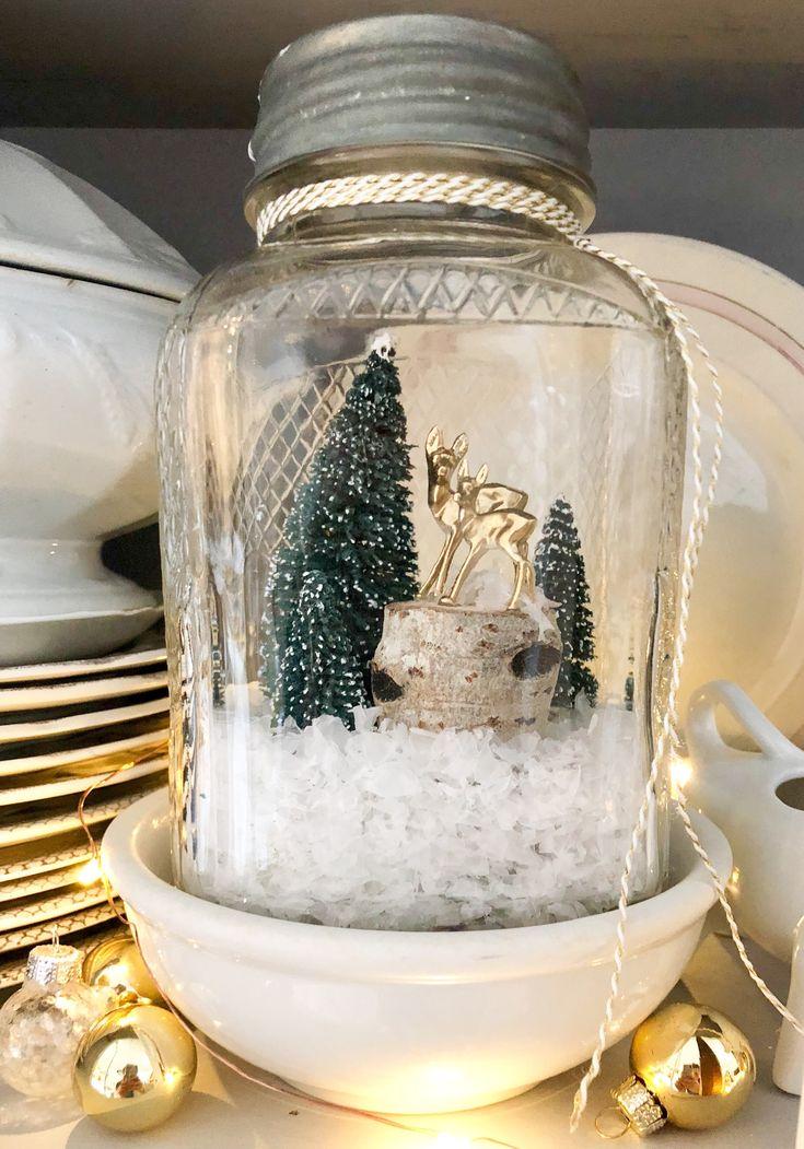 Creating A Winter Scene in a Jar ~ LeCultivateur