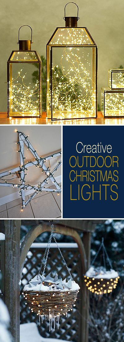 Creative Outdoor Christmas Lights • Lots of Great Ideas & Tutorials! #outdoorc...